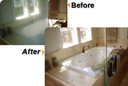 Before and After Bathroom Shower Door Glass